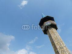 Minarett mit Natursteinplatten in Dogancay bei Adapazari in der Provinz Sakarya in der Türkei