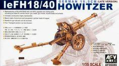 German leFH18/40 Howitzer (Late Version). AFV Club, 1/35, rebox 2005 (ex AFV Club 2003 No.AF35050, updated/new parts), No.AF35089. Price: 27,50 EUR (marketplace).