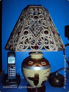 Поделка изделие Моделирование конструирование Плафон для настольной лампы из джутовых ниток Нитки фото 11