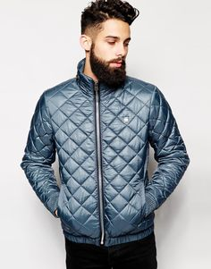 G-Star Quilted Jacket Meefic Nylon Concealed Hood.