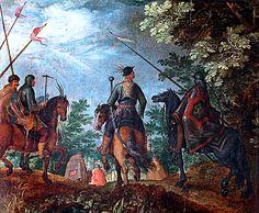 Roelandt Savery (1576-1639): Marche de cavaliers polanais un bois' (Marsz kawalerzystów polskich przez las)