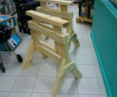 Perfect Sawhorses: Adjustable And Knock-down Design