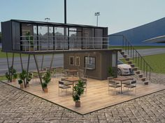 Shipping Container Restaurant, Shipping Container House Plans, Container Cafe, Container House Design, Outdoor Restaurant Design, Restaurant Bar, Coffee Shop Interior Design, Cafe Design, Coffee Restaurants