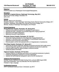 X Ray Technologist Resume Examples #examples #resume #ResumeExamples  #technologist