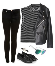 """""""Untitled #16"""" by mikasma ❤ liked on Polyvore featuring Monki, Topshop and Oakley"""