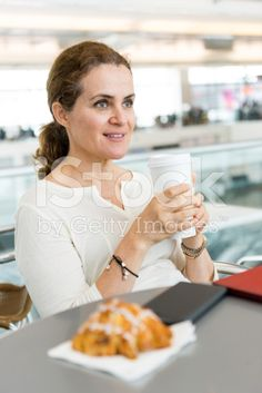 mature woman having coffee royalty-free stock photo