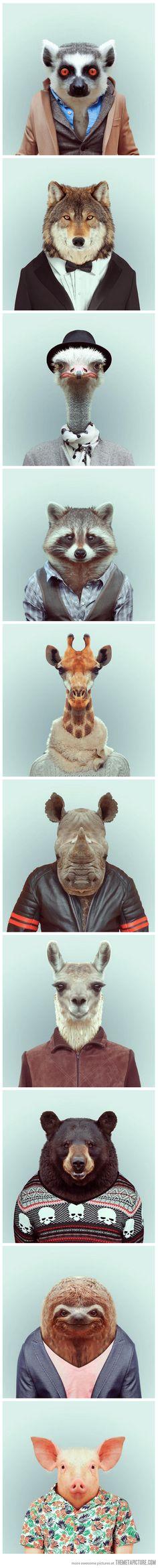 Animales personificados.
