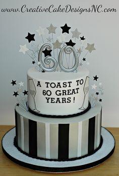 60th Birthday by Creative Cake Designs (Christina), via Flickr