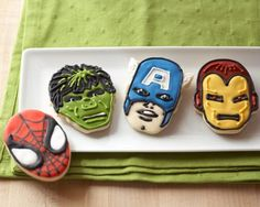 Amazon.com: Marvel Comics Hero Cookie Cutters- The Incredible Hulk, Captain America, Spider-Man and Iron Man: Kitchen & Dining