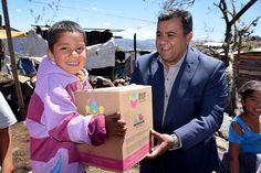 Se apoyó a 300 familias de las faldas del Cerro del Quinceo que fueron afectadas por las bajas temperaturas que se registraron en la ciudad de Morelia – Morelia Michoacán, ...