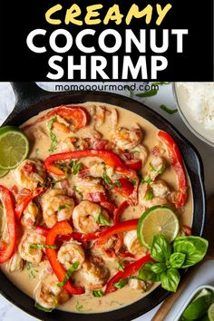 If you have 15 minutes, you can make this easy creamy coconut shrimp curry! This naturally gluten free and dairy free meal has tender shrimp in a slightly sweet and spicy curry sauce the whole family will love! Veggie Recipes, Lunch Recipes, Easy Dinner Recipes, Beef Recipes, Seafood Dishes, Seafood Recipes, Shellfish Recipes, Easy Family Dinners, Easy Meals