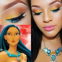 This oh-so-pretty Pocahontas-inspired design. | 16 Crazy-Awesome Examples Of Eyeshadow Art