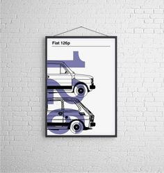 fiat126p_blue - plakat B2 - dla mężczyzny #niezchinzpasji