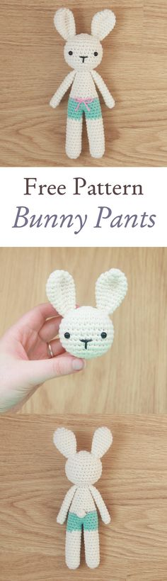 Free bunny pattern from Little Bear Crochets. If you like this pattern, please check out my other patterns at www.littlebearcrochets.com #amigurumi #ravelry #littlebearcrochets