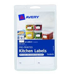 Organize the contents of your cupboards and refrigerator with our Pre-Printed Kitchen Labels. These labels will stick and stay put on glass plastic and metal storage containers. Easily identify the c...