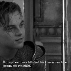 Leo as Romeo is perfection. This movie is one of my faves!