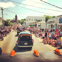 Our annual July 4th Parade.  quintessential in Wolfeboro, NH!  I went to this parade one year and I loved it!