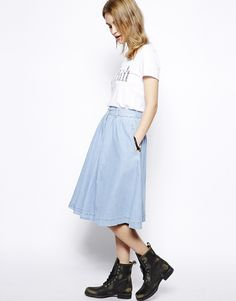 Just like the denim skirt