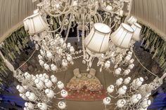 Statement chandelier about your head table. Wedding by Monte-Carlo Weddings.