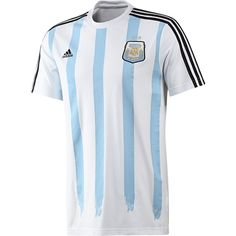 Adidas Authentic Argentina Messi T-shirt, XL, New, Columbia Blue/White, for sale online Argentina Team, Argentina Soccer, Argentina National Team, Adidas Brand, Adidas Men, Chelsea Soccer, Messi Soccer, Adidas Country, Soccer