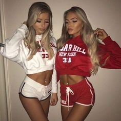 Sexy outfits for BFF Source by Noticiastu Mode Outfits, Sexy Outfits, Summer Outfits, Fashion Outfits, Fashion Trends, Bff Goals, Best Friend Goals, Fitness Lady, Female Fitness