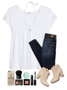 """~daydreamer~"" by simply-natalee ❤ liked on Polyvore featuring MANGO, American Eagle Outfitters, Casetify, NARS Cosmetics, Eos, Kendra Scott, Bobbi Brown Cosmetics and Laurence Dacade"