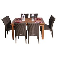 Provence 9 Piece Indoor/Outdoor Dining Set