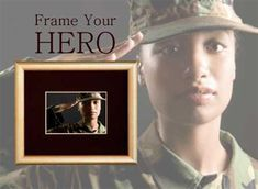 Frame Your Hero - The Great Frame Up #customframing #military