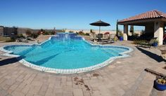 Here's a gorgeous 25,000 gallon swimming pool that we recycled last night.