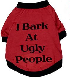 Small-Size Dog Shirt, Summer Dog Clothes, Cute Teddy Dog Cat Thin Vest, Fashion Pet Puppy Clothes Summer Cotton Costumes Pet Dog Cat Funny T Shirt 'I Bark At Ugly People' -- Visit the image link more details. (This is an affiliate link) Large Dog Costumes, Cat Costumes, Small Dog Clothes, Puppy Clothes, Chihuahua Clothes, Warm Outfits, Summer Outfits, Summer Clothes, Winter Clothes