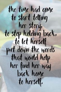 An invitation to take a deep breath and come along and build the foundation you need to start telling your story. Yes. Yes. Yes. (It is time honey.)