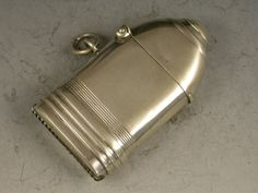 George V Novelty Silver First World War Howitzer Shell Vesta Case, WILLIAM HAIR HASELER; W H HASELER LTD, BIRMINGHAM 1915