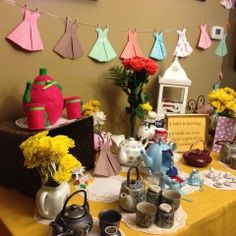 Tea party baby shower!  A baby is brewing...
