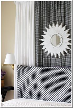A Reversible Headboard Cover