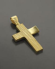 Σταυρός βάπτισης Χρυσός Κ14 Gold Chains For Men, Baby Baptism, Baby Boy Gifts, Cross Pendant, Bespoke, Supernatural, Jewelery, Artisan, Rings