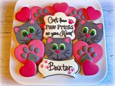 Image result for cat and dog birthday cookies