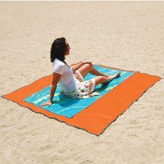 sand proof beach mat.