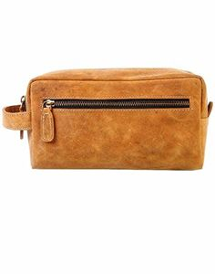 9bb54eabef Silkroute Craft Leather Toiletry Bag For Men (Dopp Kit) featuring Travel  Bottles (coffee