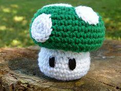 Free Crochet Pattern: 1-Up Mushroom