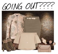 """Going out?"" by bv-b ❤ liked on Polyvore featuring Miss Selfridge, LE3NO, TIBI, Michael Kors, Luichiny and Valextra"