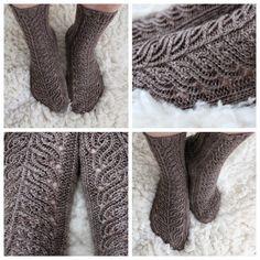 December socks, finnish pattern in ravelry. Loom Knitting, Knitting Socks, Knitting Patterns, Crochet Socks, Knit Crochet, December, Handicraft, Fingerless Gloves, Arm Warmers