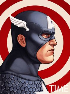 Mike Mitchell - Marvel Portraits Time capt-america