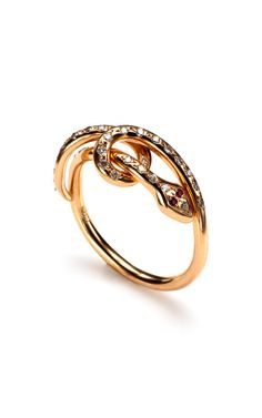 Would be fun in fashion jewelry for the year of the snake.  Ileana Makri's twisted snake ring