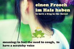 froschimhals German Idioms