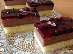 Pudingové rezy | Mimibazar.sk Healthy Diet Recipes, Cheesecake, Food And Drink, Cooking, Hampers, Kitchen, Diet Recipes, Cheesecakes, Healthy Recipes