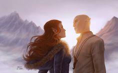 """Résultat de recherche d'images pour """"dragon age lavellan romance"""""""
