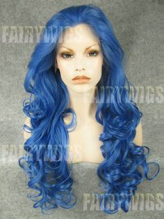 Wonderful Long Colored Female Wavy Lace Front Hair Wig 22 Inch