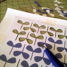 do a bit: my creative space: hand printed fabric swap III
