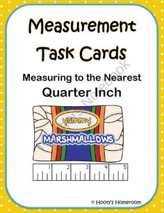 Measurement Task Cards - Nearest Quarter Inch product from HootysHomeroom on TeachersNotebook.com