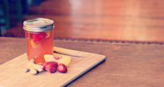 Kombucha Recipes: Rasperry Ginger Fizz, Strawberry Peach Punch, Cherry Limeade, Mango Mango
